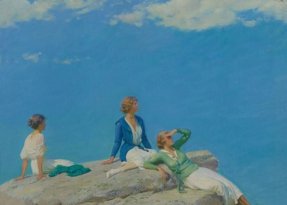 Charles Courtney Curran, Three Women on a Hilltop, 1919