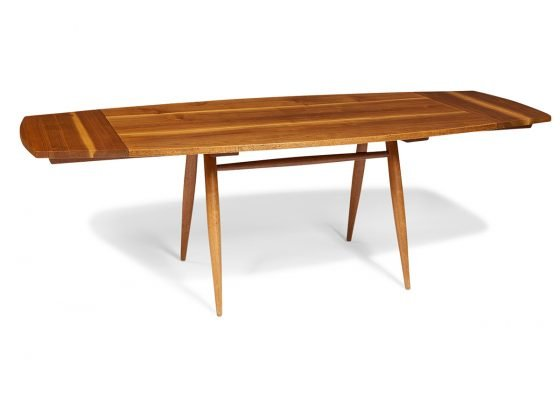 George Nakashima, turned leg dining table