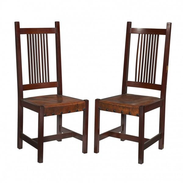 spindle side chairs, set of eight