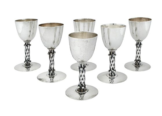 william spratling mexican silver sterling goblets