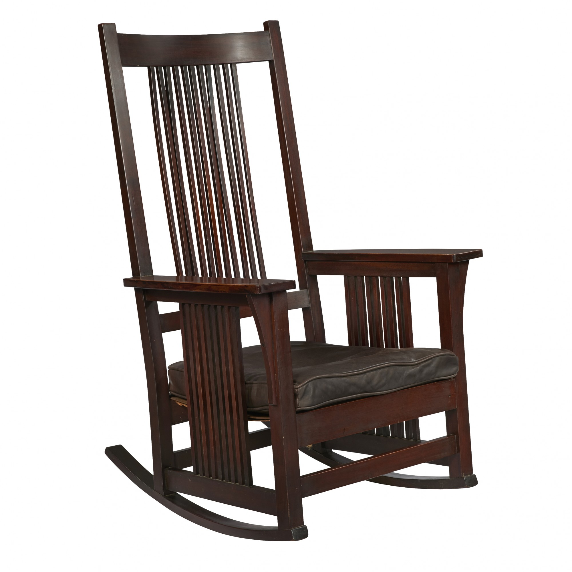 Gustav Stickley Spindle Arm Rocker