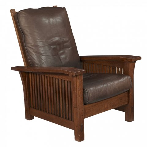 Gustav Stickley Spindle Morris Chair