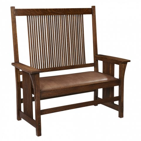 Gustav Stickley Spindle Settee
