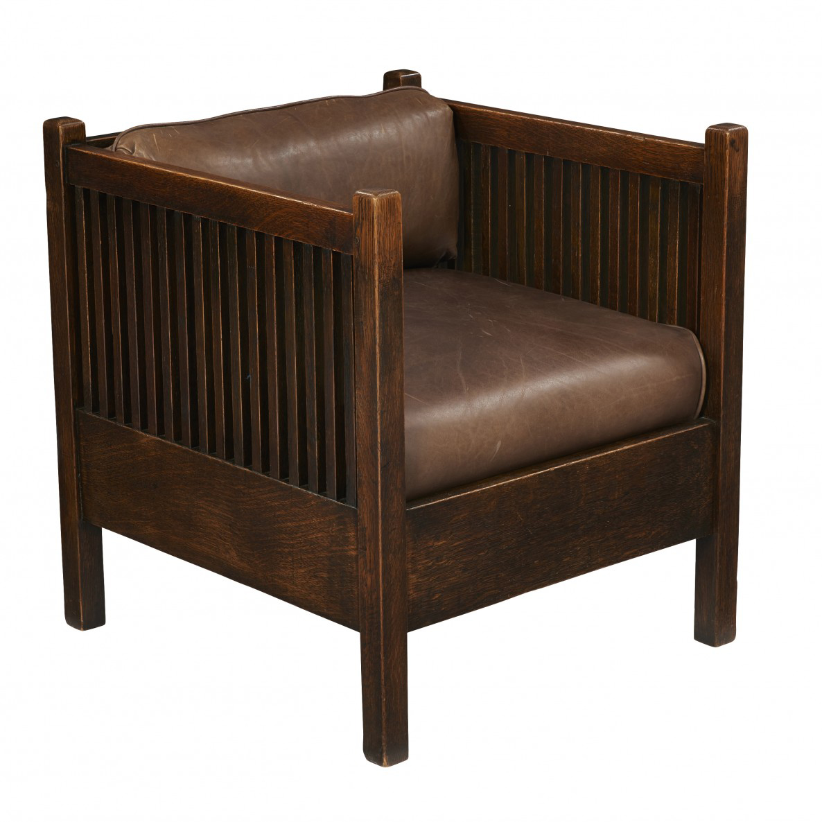 Gustav Stickley Spindle Cube Chair