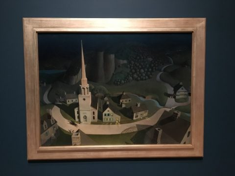 Grant Wood The Midnight Ride of Paul Revere
