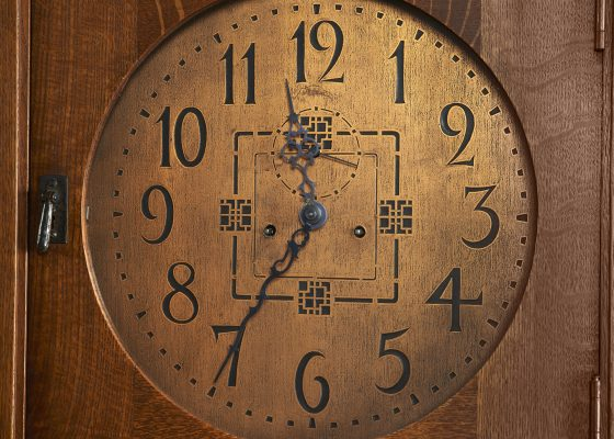 L. & J.G. Stickley, tall case clock, #86