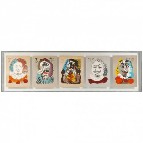 Pablo Picasso, Imaginary Portraits (a group of five works)