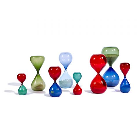 Paolo Venini (1985-1959), collection of eight Clessidre (hourglasses)