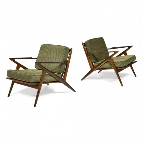 Poul Jensen (1922-2006) for Selig, Z lounge chairs, pair