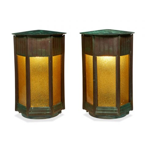 Prairie School exterior sconces, large form