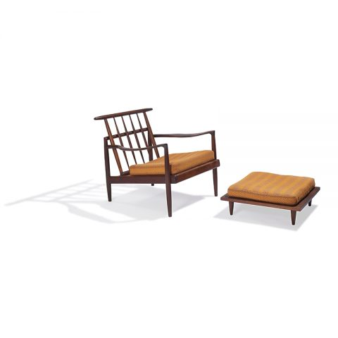 Sam Maloof, lounge chair and ottoman