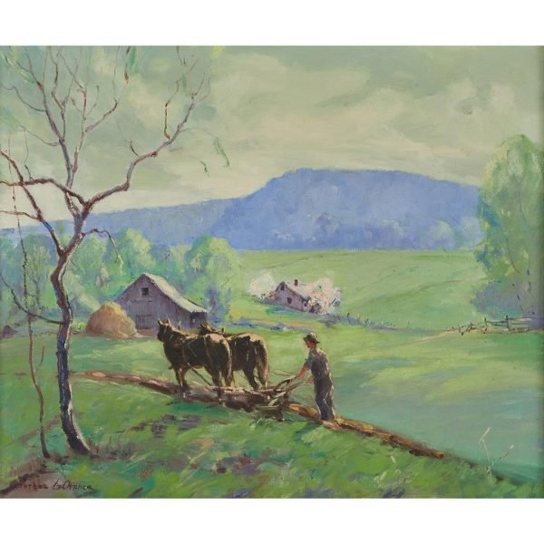 """Georges LaChance, (American, 1888-1964), Summer Morning, oil on canvas, 25"""" x 30"""""""