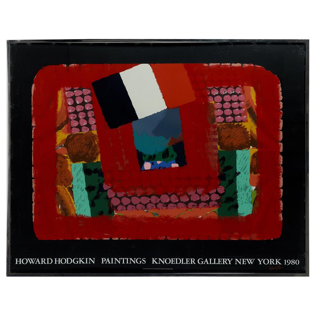 "After Howard Hodgkin, (British, 1932-2017), In a French Restaurant / Knodler Gallery Exhibition Poster, poster, 46 1/2"" x 56"""