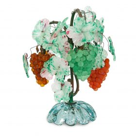 """Murano Grapevine and Cluster table lamp 13 1/2""""dia x 16 1/2""""h"""
