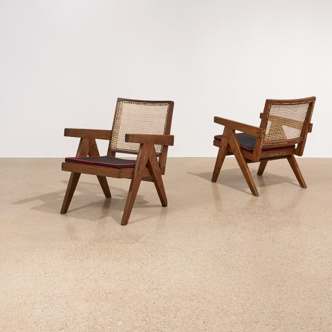 Pierre Jeanneret, Low Lounge Chairs, pair, model PJ-SI-29-A