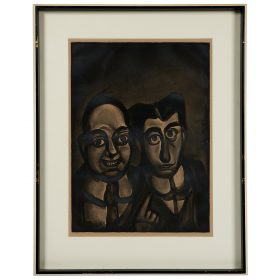 "Georges Rouault, (French, 1871-1958), Nous sommes fous, etching, 22 1/4"" x 16 1/4"""