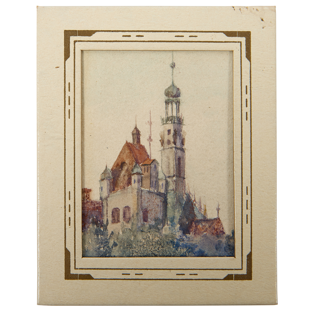 "Alma Moessner, (American, 1869-1922), A group of four works from the Columbian Exposition, watercolors, largest 14"" x 19 3/4"""