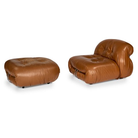 Afra Scarpa and Tobia Scarpa for Cassina, Soriana lounge chair and ottoman