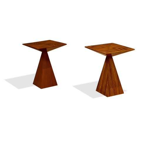 Harvey Probber, prism side tables, #1210, two