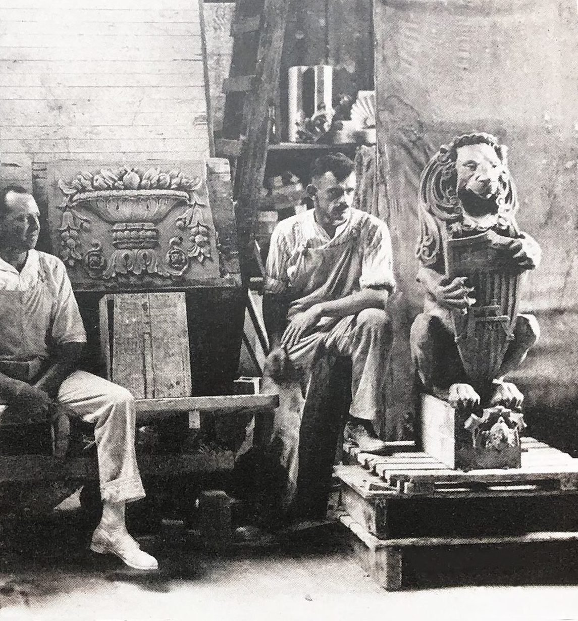 American Terra Cotta and Ceramic Company, historic photo, modeling room, 1921