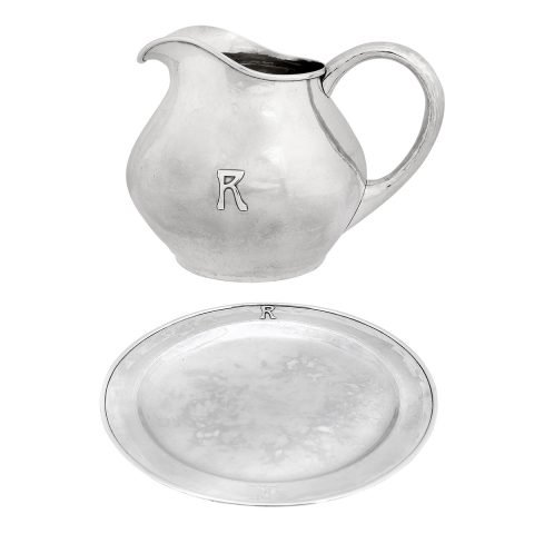 The Kalo Shop, water pitcher with matching undertray