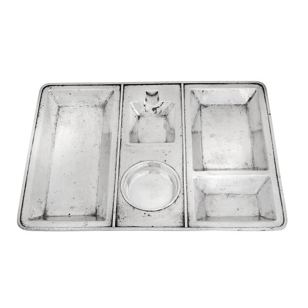 """Lebolt & Co. compartmental smoker's tray, #700 13 1/2""""w x 10""""d x 3/4""""h"""