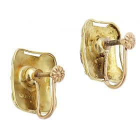 Lillian R. Foster, screwback earrings
