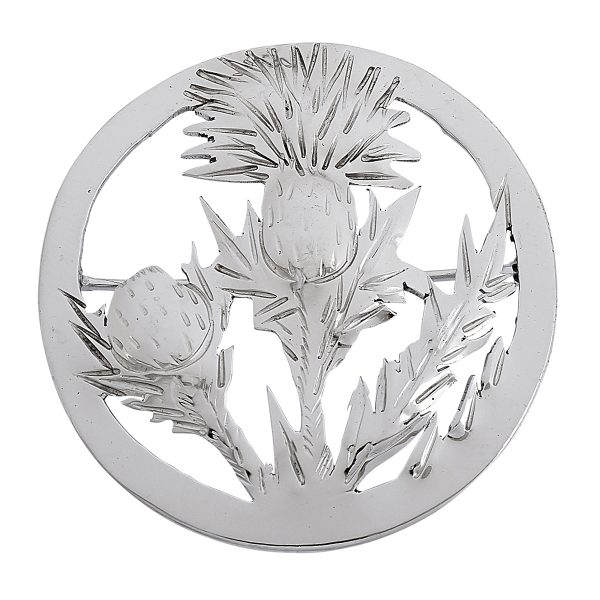 Emily A. Day, round thistle brooch