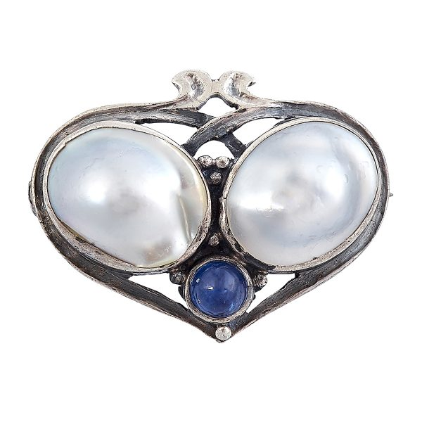 Josephine Hartwell and Frank A. Shaw, pin / brooch of heart form