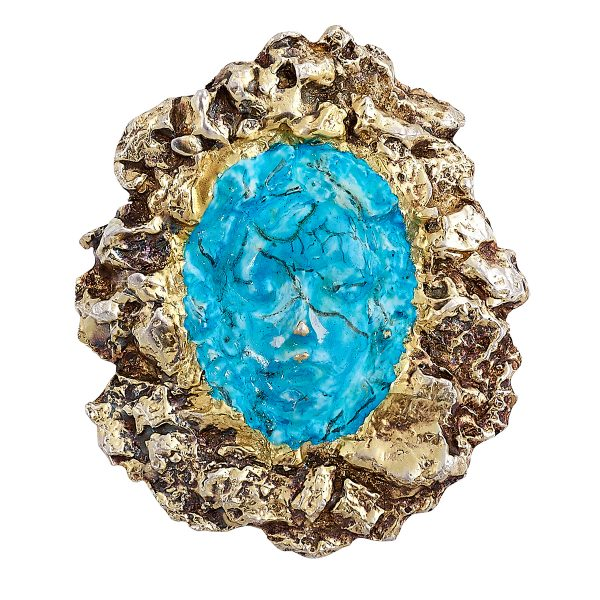 Eric de Kolb, pendant brooch with central cast face
