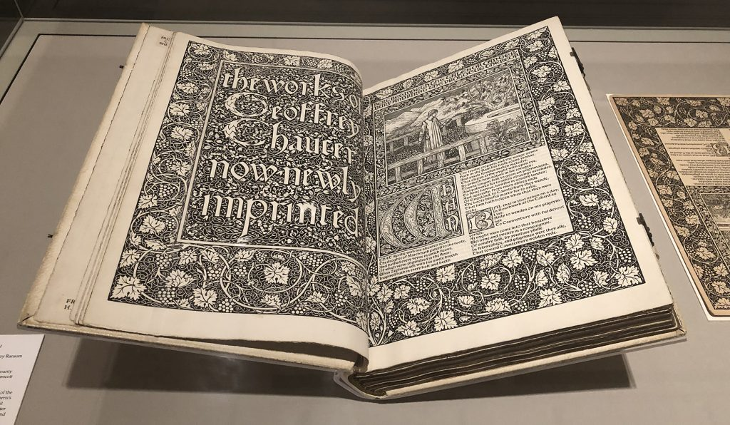 The Works of Geoffrey Chaucer, printed by William Morris' Kelmscott Press