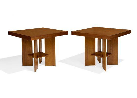 Frank Lloyd Wright for the Benjamin Adelman House, tables, two