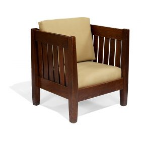 "American Arts & Crafts, Attributed to Rittenhouse cube chair 30 1/2""w x 27 1/2""d x 33""h"