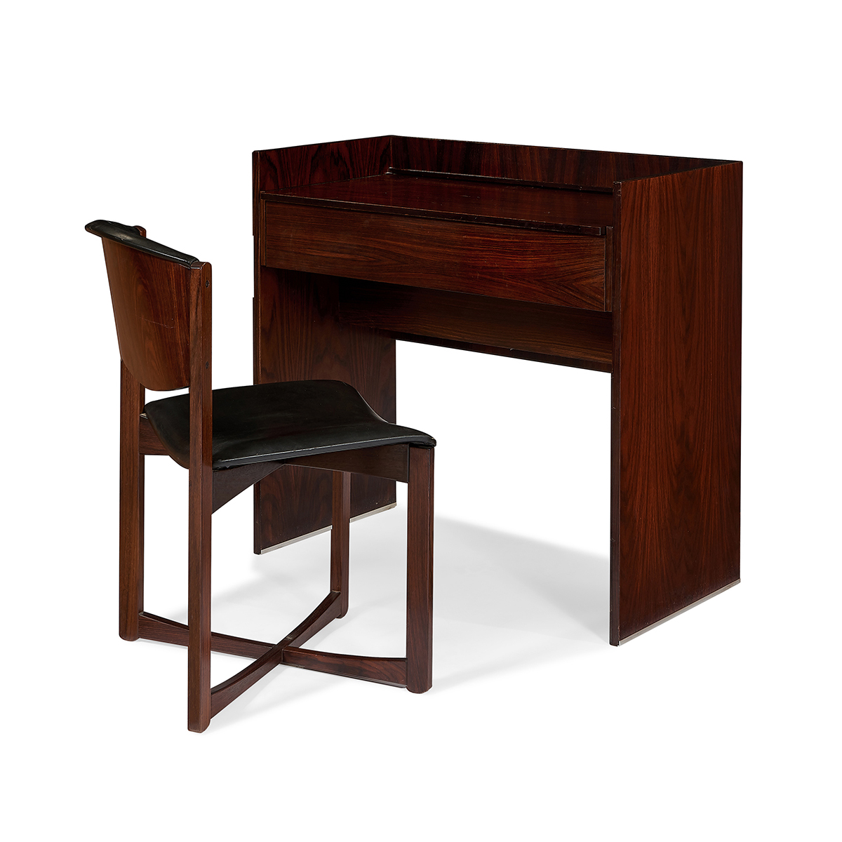 "Ico Parisi (1916-1996) for MIM vanity with chair vanity: 35 1/2""w x 18""d x 33 1/4""h"