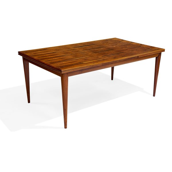 "Niels Otto Møller (1920-1981) for J.L. Møllers Møbelfabrik dining table, #12 59""w x 39 1/4""d x 29 1/2""h; fully extended: 104""w"