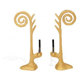"""Gene Summers (1928-2011) A andirons, edition 5/6 8 1/2""""w x 6 1/2""""d x 21 1/2""""h"""