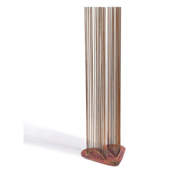 "Val Bertoia (b. 1949) 2 halves make a whole heart sounding sculptures B-2222 and B-2223 12""w x 11""d x 37 1/2""h"