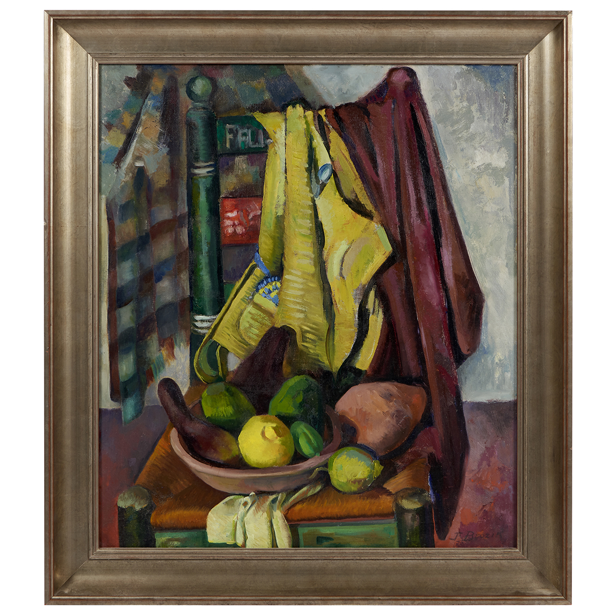 "Jaroslav Brozik, (Czech/American, 1904-1986), Still Life, oil on canvas, 28"" x 24"""