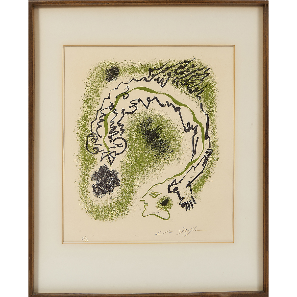 """André Masson, (French, 1896-1987), Metamorphosis, 1963, color lithograph, 14 5/8"""" x 14 1/16""""; sheet: 24 13/16"""" x 18 3/4"""""""