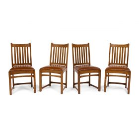 Lifetime Puritan Motif dining set: dining table, #9159; two armchairs, #176 1/2; six dining chairs, #176; sideboard with mirror, #55...