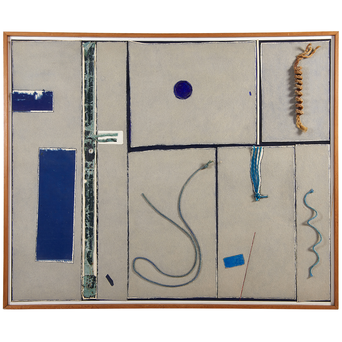 "Tony Vevers, (British/American, 1926-2008), Blue-Marine, 1984, mixed media, 53 1/2"" x 65 3/4"""