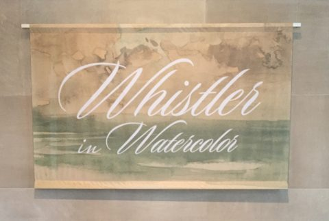 Whistler in Watercolor exhibit, Freer Gallery of Art, Smithsonian Institution