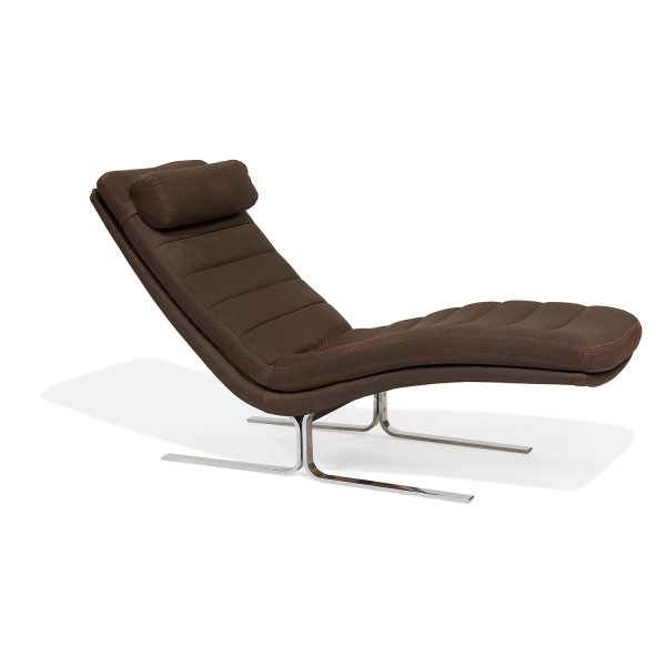 "Bernd Münzebrock (b. 1945) for Walter Knoll chaise lounge 23 3/4""w x 63""d x 31""h"