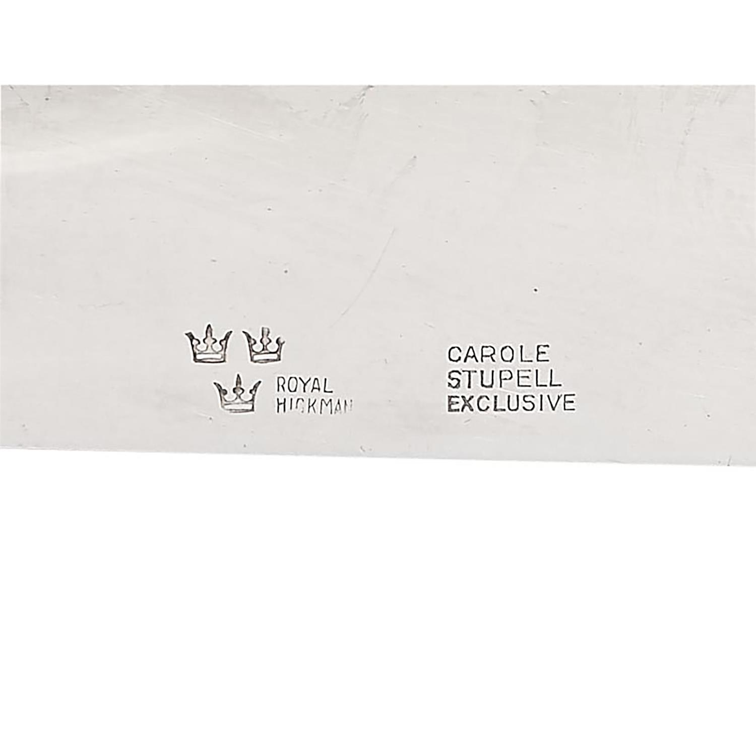 "Royal Hickman for Carole Stupell, Ltd. three-light candelabra, pair each: 12""w x 5""d x 7""h"