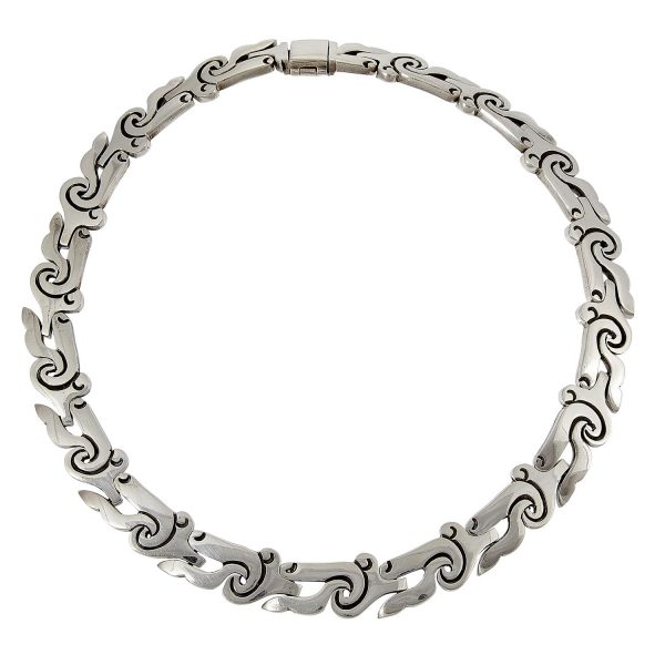 """Mexican Modern necklace 1/2""""w x 15""""dia"""