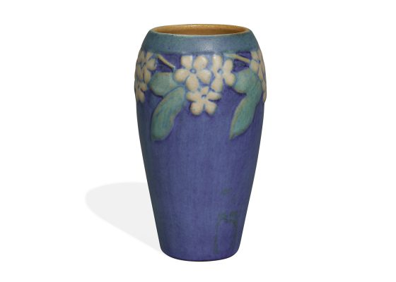 Anna Frances Simpson for Newcomb College, transitional vase with flowers
