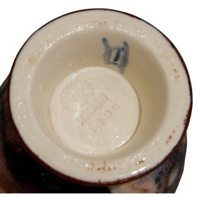 """Jens Jensen (1898-1978) for Rookwood Pottery Jewel Porcelain vase decorated with swan, #6400 3 1/2""""dia x 5 7/8""""h"""