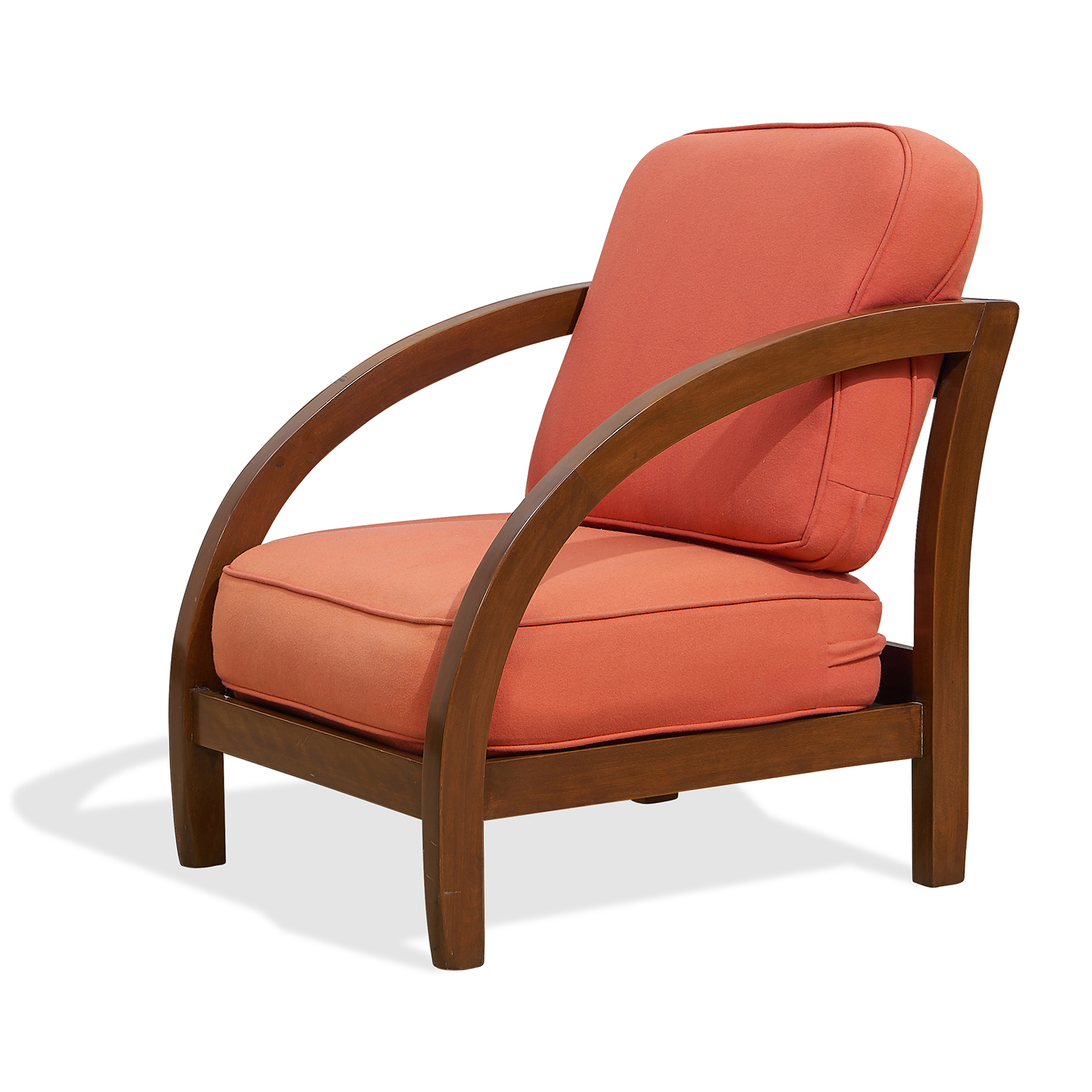 """Attributed to Paul Frankl (1886-1958) D lounge chair 24 1/4""""w x 31""""d x 27""""h"""