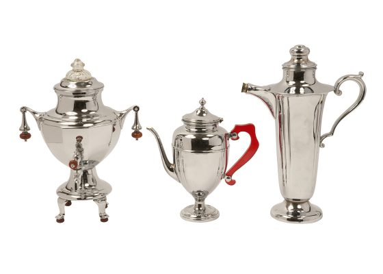 Art Deco, teapots, coffee pots, toaster, and accessories