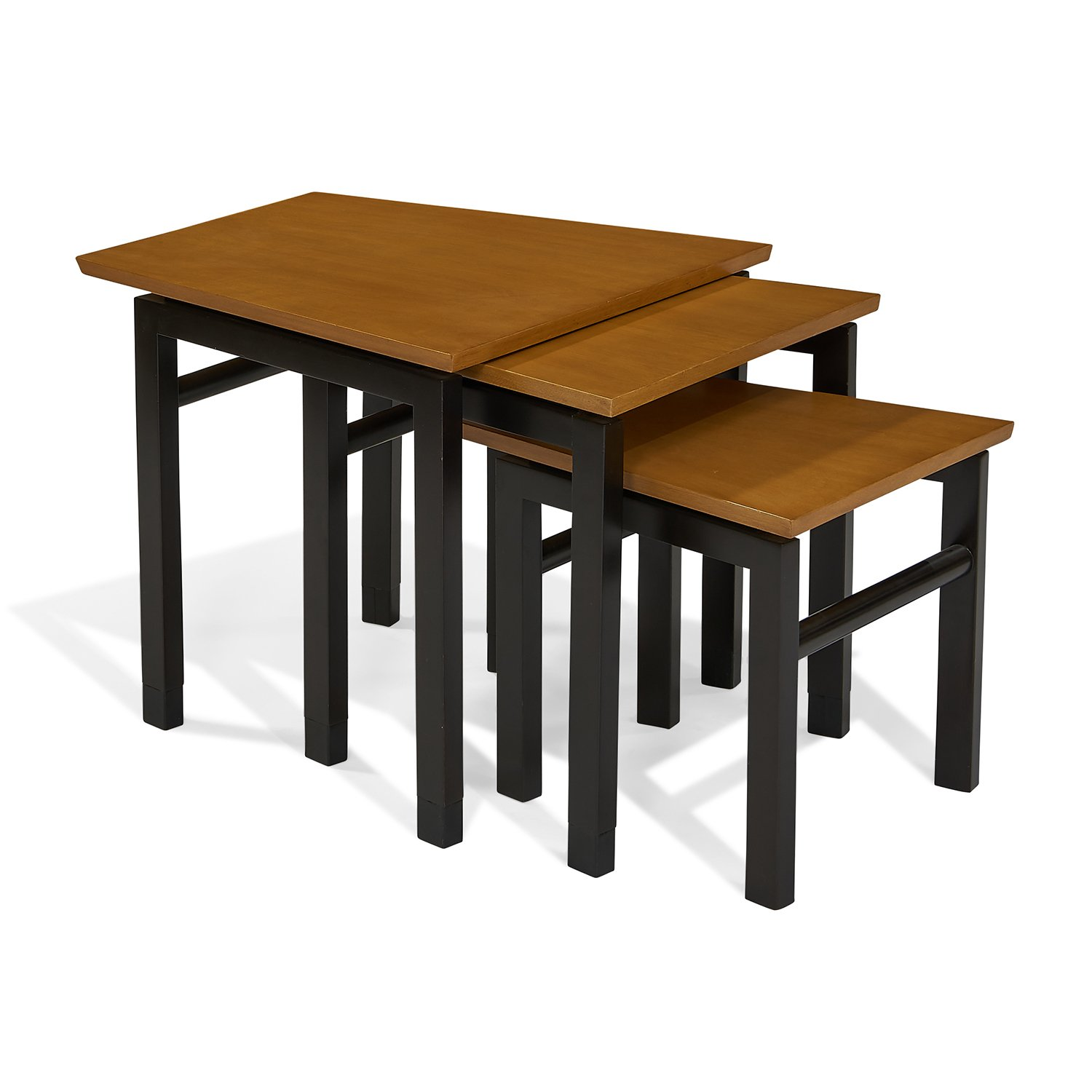 """Edward Wormley (1907-1995) for Dunbar nesting tables, set of three largest: 26""""w x 25""""d x 22""""h"""